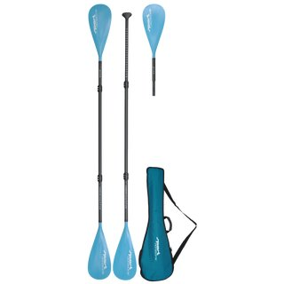 Sport Vibrations® 4-part SUP paddle CarbonComp 80 + 2nd paddle blade with kayak function + Quality-Bag-Antitwist