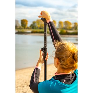 Sport Vibrations® 3 tlg. SUP Paddel CarbonComp 80+ Quality-Paddel-Bag Antitwist - Superlight